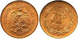 10 Centavo United Mexican States (1867 - ) Bronze