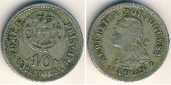 10 Centavo São Tomé and Príncipe (1469 - 1975) Bronze/Nickel