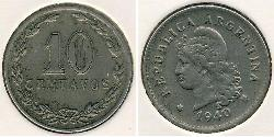 10 Centavo Argentine Republic (1861 - ) Copper/Nickel