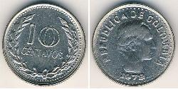 10 Centavo Republic of Colombia (1886 - ) Copper/Nickel