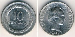 10 Centavo Republic of Colombia (1886 - ) Copper/Nickel