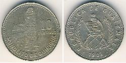 10 Centavo Republic of Guatemala (1838 - ) Copper/Nickel