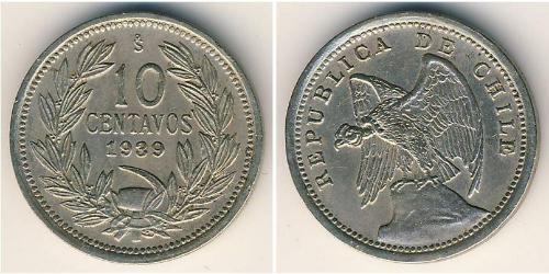 10 Centavo Chile Kupfer/Nickel
