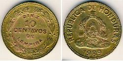 10 Centavo Honduras Messing