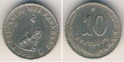 10 Centavo Paraguay (1811 - ) Níquel/Cobre