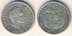 10 Centavo Republica de Colombia (1886 - ) Plata