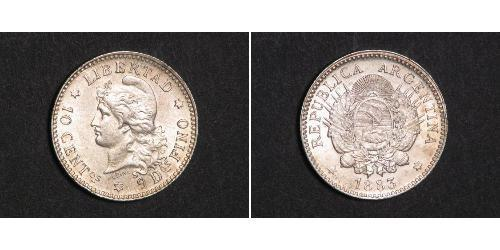 10 Centavo Argentinien (1861 - ) Silber