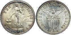 10 Centavo Philippinen Silber
