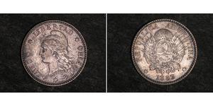 10 Centavo Argentine Republic (1861 - ) Silver
