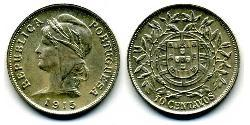 10 Centavo First Portuguese Republic (1910 - 1926) Silver