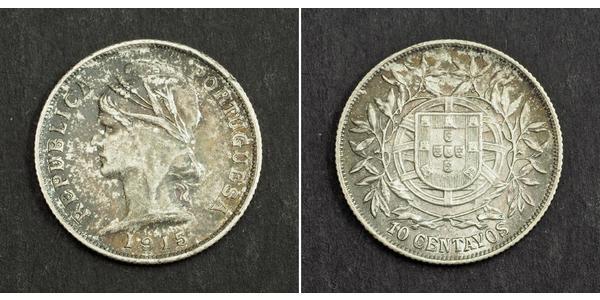 10 Centavo First Portuguese Republic (1910 - 1926) Silver
