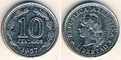 10 Centavo Argentine Republic (1861 - ) Steel/Nickel