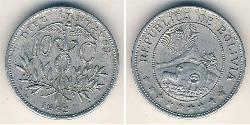 10 Centavo Bolivien (1825 - ) Zink