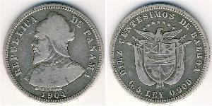 10 Centesimo Panama Argent Vasco Núñez de Balboa (1475 – 1519)
