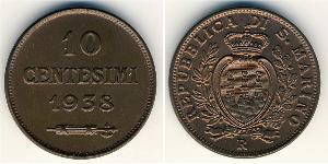 10 Centesimo San Marino Cobre
