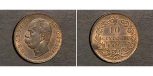 10 Centesimo Kingdom of Italy (1861-1946) Copper Umberto I (1844-1900)