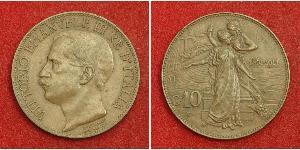 10 Centesimo Kingdom of Italy (1861-1946) Copper Victor Emmanuel III of Italy (1869 - 1947)