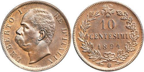 10 Centesimo Kingdom of Italy (1861-1946) Copper Umberto I (1844-1900)