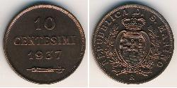 10 Centesimo San Marino Copper