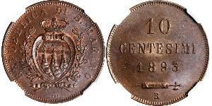 10 Centesimo San Marino Copper