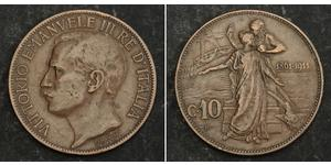 10 Centesimo Kingdom of Italy (1861-1946) Cuivre Victor-Emmanuel III d