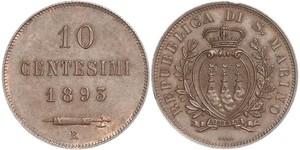10 Centesimo Saint-Marin Cuivre