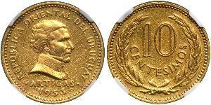 10 Centesimo Uruguay Gold José Gervasio Artigas