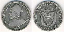10 Centesimo Republic of Panama Silver