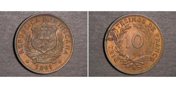 10 Centesimo Dominikanische Republik
