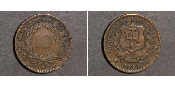 10 Centesimo Repubblica Dominicana