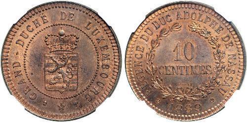 10 Centime 卢森堡 銅