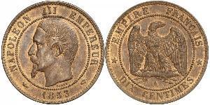 10 Centime 法蘭西第二帝國 (1852 - 1870) 銅 拿破仑三世