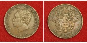 10 Centime Cambodge Bronze/Argent Norodom Ier (1834-1904)