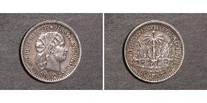 10 Centime Haiti Argento