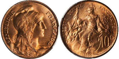10 Centime Dritte Französische Republik (1870-1940)  Bronze