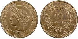 10 Centime French Third Republic (1870-1940)  Bronze