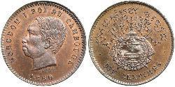10 Centime Kambodscha Bronze/Silber Norodom (1834-1904)