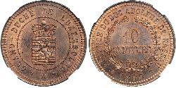 10 Centime Luxembourg Copper