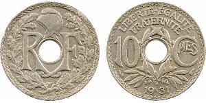 10 Centime Vichy France (1940-1944) / French Third Republic (1870-1940)  Copper/Nickel