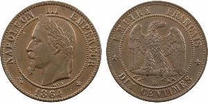 10 Centime Zweites Kaiserreich (1852-1870) Kupfer Napoleon III (1808-1873)
