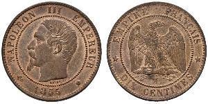 Münze 10 Centime Zweites Kaiserreich 1852 1870 Kupfer 1855
