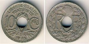 10 Centime Vichy France (1940-1944) / Dritte Französische Republik (1870-1940)  Kupfer/Nickel