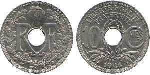 10 Centime Tercera República Francesa (1870-1940)  / Vichy France (1940-1944) Níquel/Cobre