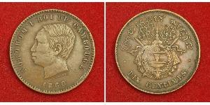 10 Centime Camboya Bronce/Plata Norodom (1834-1904)