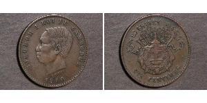 10 Centime Camboya Bronce/Plata Norodom (1834-1904)