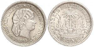 10 Centime Haiti Silber
