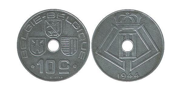 10 Centime Belgium Zinc