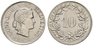 10 Centime / 10 Rappen Switzerland Copper/Nickel