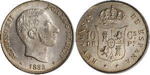 10 Centimo Philippines Argent