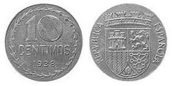 10 Centimo Second Spanish Republic (1931 - 1939) Iron